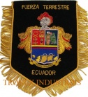 Embroidered Bullion Wire Pennant - FUERZA TERRESTRE - ECUADOR