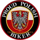 Proud Polish Biker Embroidered Poland Flag Patch