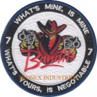 Bandits Embroidered Patch - WHAT'S MINE, IS MINE 7 WHAT'S YOURS, IS NEGOTIABLE
